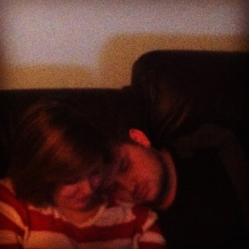 Exhausted. My poor baby. #boyfriend #socute (Taken with Instagram)