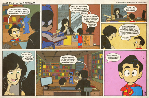 JL8 #73 by Yale Stewart Based on characters in DC Comics. Creative content © Yale Stewart. Like the Facebook page here! Archive