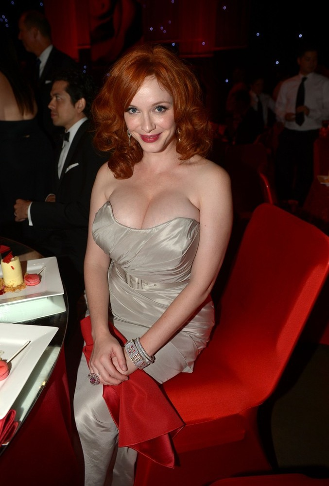 suicideblonde:  Christina Hendricks at the Governor's Ball after the 2012 Emmys, September 23rd THANK YOUUUUUUUUUUUUUU