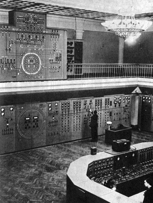 Synchrophasotron control center, Dubna, Russia, 1968