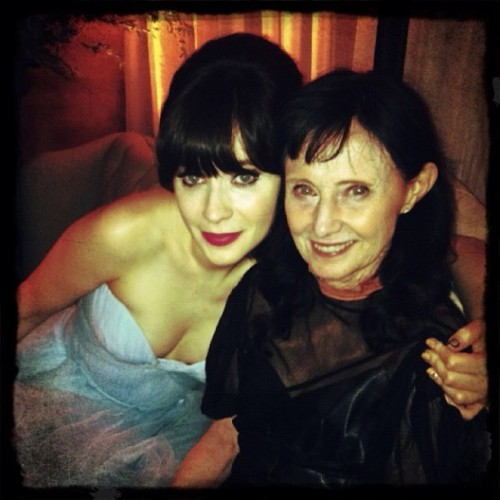 My mom and me at the FOX party!  (Taken with Instagram)