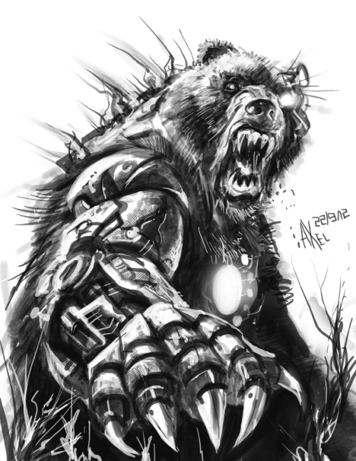 alphabooks:  Shardik, the giant cyborg bear. From Stephen King's The Dark Tower.