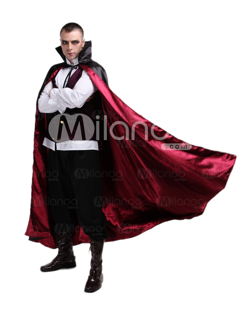 Vampire Count Polyester Scary Halloween Costume