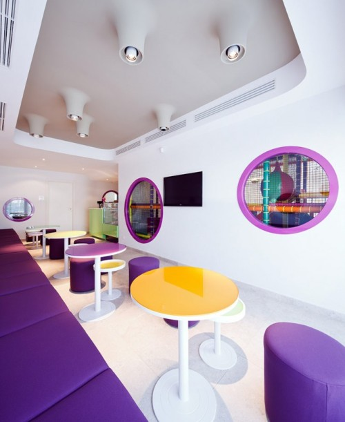 homedesigning:  Colorful Cafe