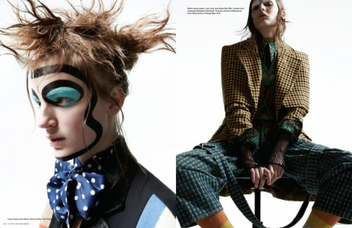 The Just Kids issue, shot by Amy Troost and styled by Alastair McKimm. Girls of Kolfinna Kristofersdottir, Marie Piovesan & Laura Kampman sport a bold mix of stunning vintage finds and seasonal pieces from names Junya Watanabe, Comme des Garcons & J.W. Anderson. Makeup by Yadim and hair by Rudi Lewis. For more on i-D Magazine's Just Kids issue see i-D Online