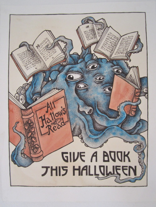 neil-gaiman:  imaginarypurplefish:  Poster made for last year's All hallow's read competition. Got amongst the top three :)  Still love this so much!