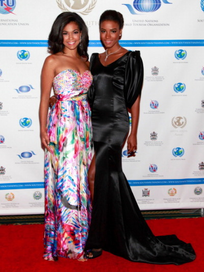 Miss Teen USA & Miss Universe at the South-South Awards Miss Teen USA 2012 Logan West and Miss Universe 2011 Leila Lopes attend the 2012 South-South Awards at The Waldorf Astoria on September 23, 2012 in New York City.