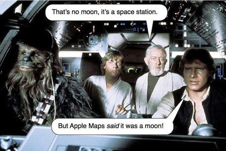 damn you apple maps