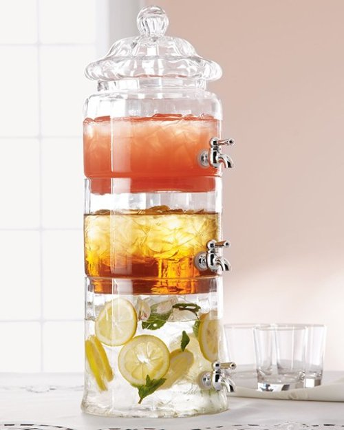 theclassyissue:  Stacked Glass Beverage Server