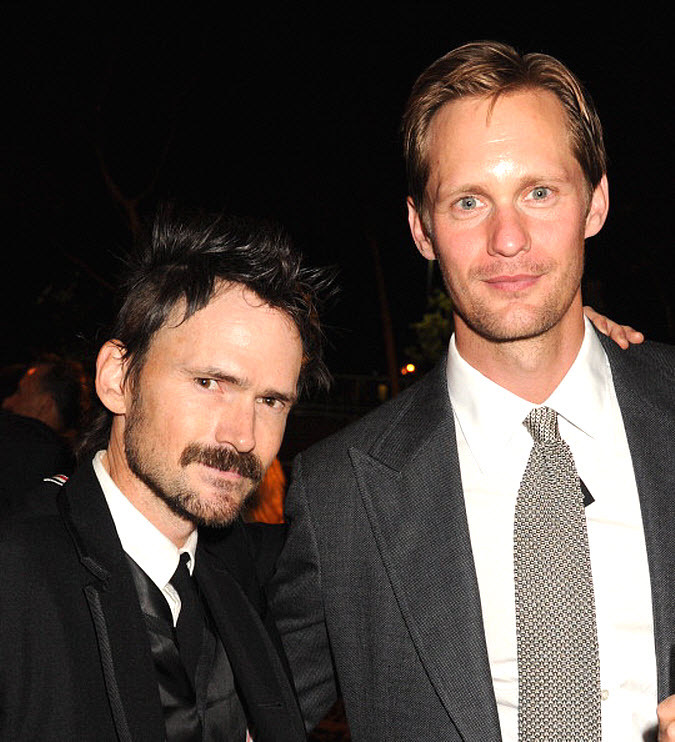 santress:  Alexander Skarsgard and Jeremy Davies at HBO's Emmy after party (September 23, 2012). (Source:  Getty)