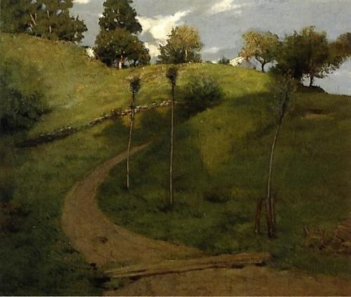 poboh:  Lengthening Shadows, 1887, Julian Alden Weir. American Tonalist, Impressionist Painter, (1852 - 1919)