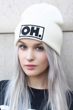 ohhellclothing:  (via Oh Hell — OH. Beenie (White))