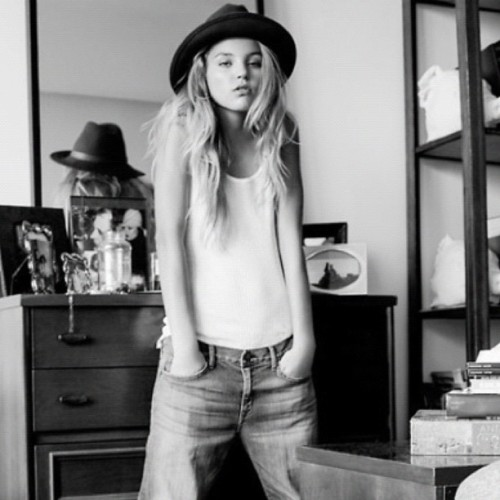 #fashion #style #denim #jeans #tank #singlet #hat #babe #blonde #model - ally_bird http://instagr.am/p/P9GvpFl2PP/