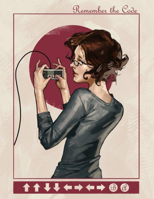 xombiedirge:  Modern Ladies #1 - 'Old School'bySamuel Deats