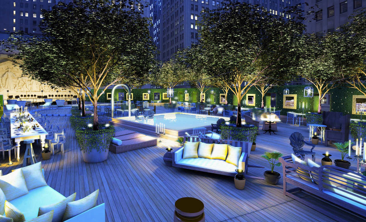 Yoo, Wall Street, Terrace by Philippe Starck