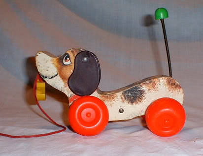 Fisher Price pull along snoopy
