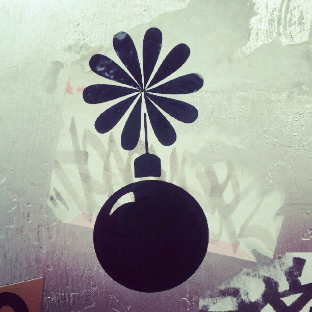 #streeart #sticker #stickerart #miami #streetartmiami #wynwood #bomb (Taken with Instagram)