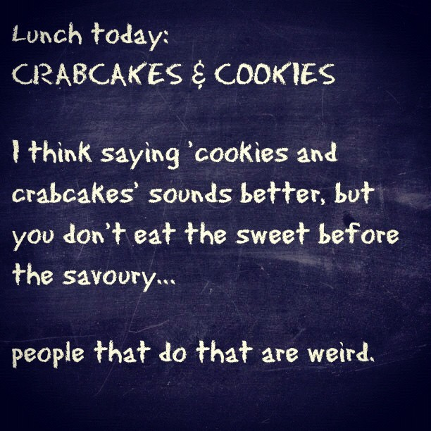 'Cookies n Crabcakes' (Taken with Instagram)