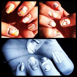 #marble #nails #nailart #swirl #polish !! (Taken with Instagram)