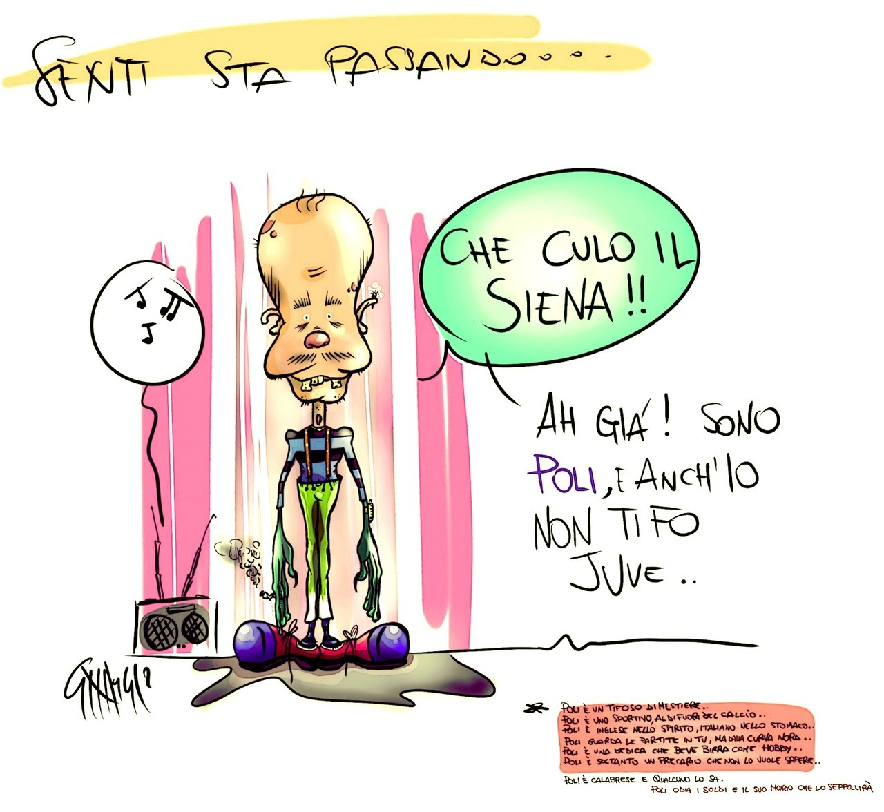 Poli l'interista fegatato