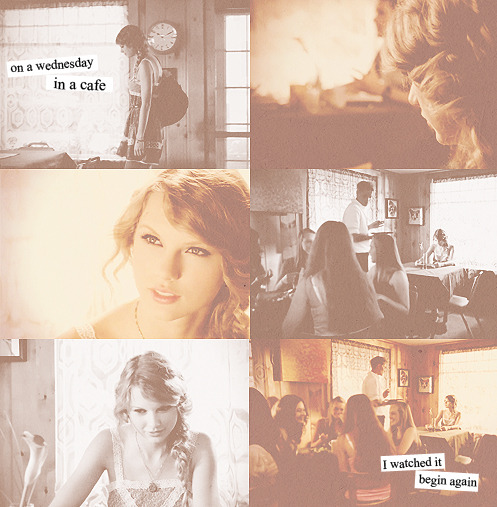 """on a wednesday in a cafe I watched it begin again"""