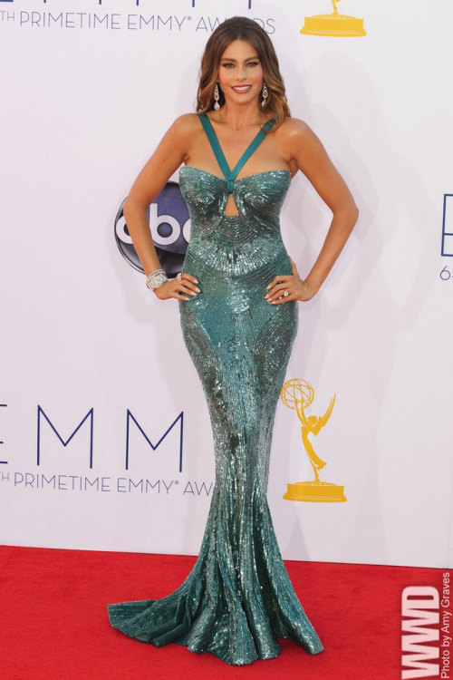 Sofia Vergara in Zuhair Murad at the Emmy Awards.