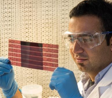 Plastic Solar Cells Introduce New Clean Energy IndustryFlinders Univ. researcher has been developing a cheaper and faster way of making large-scale plastic solar cells using a lamination technique, paving the way for a lucrative new clean energy industry.The novel method, developed by PhD candidate Anirudh Sharma, is a promising alternative to the expensive fabrication techniques currently used in the renewable energy sector, and would make the commercialization of plastic solar cell technology more viable.Read more: http://www.laboratoryequipment.com/news/2012/09/plastic-solar-cells-introduce-new-clean-energy-industry