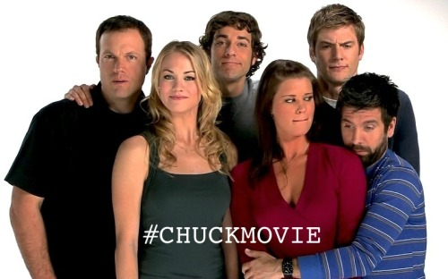 HAPPY FIFTH ANNIVERSARY, CHUCK!  Today, in honor of all the Nerd Herders that were lost throughout the series, all the Buy Morons who are still making minimum wage, all the down on their luck nerds who thought they'd never have a chance at the girl of their dreams, all the awesomes and awesomettes, all the Subway sandwiches, all of Big Mike's crushed fishing dreams, all the times Chuck never stayed in the car, all of Jeffster's fame, all of the tranq darts used, all of John Casey's grunts, all of the memories Sarah lost- Today, in honor of a special little TV showed named Chuck, we bow our heads and try to get #CHUCKMOVIE trending on Twitter.   Whether you're a part of the fandom or not, you should still help out if you want. Every tweet counts, and we really just wanna rub the fact that we're still alive in NBC's faces. Because the more noise we make, the less likely they are to ignore us.  C'mon fans of Chuck, and fans of other beautiful shows alike. Whether you're a packing up the Impala, trying to keep you and your werewolf friend alive and floating in a pool, still flyin' with the Serenity gang, traveling through time in a tardis, still crying over Sherlock, Avenging Coulson, cooking meth with Mr. White, or doing whatever it is that floats your boat- Take some time, help out. We could really use you to make a bigger impact.  Thank you.