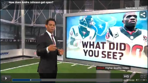 "How did Andre Johnson get wide open? ""NFL AM"" analyst Eric Davis breaks down Houston Texans wide receiver Andre Johnson's second touchdown of the 2012 season - from NFL.com."