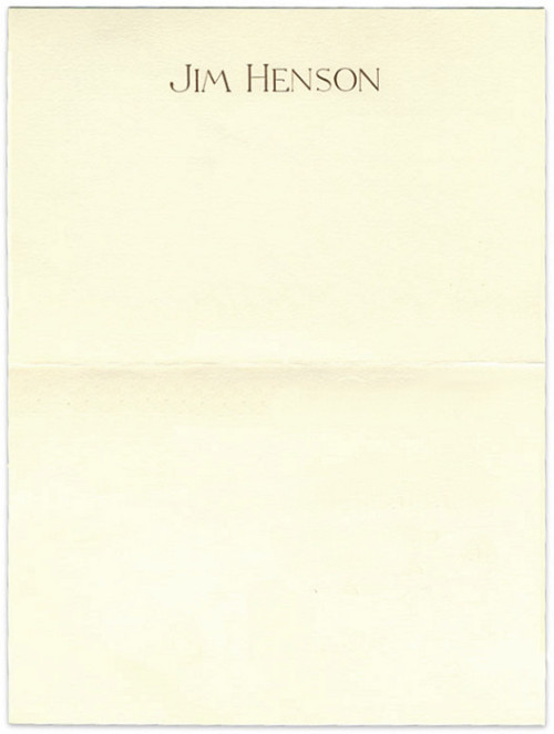 Jim Henson, 1988 | Source The personal letterhead of Jim Henson, who would've turned 76 today.