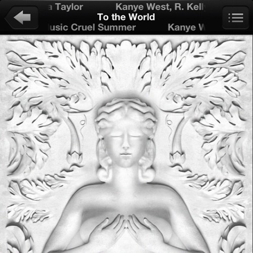 #Good #music @teyanataylor love this track #kanye #west.  (Taken with Instagram)