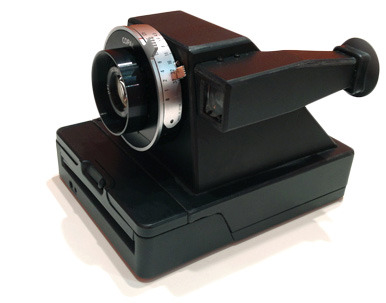 The Impossible Project's Viewfinder Prototype Polaroid Camera. handmade by Henny Waanders.