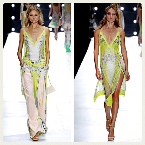 I imagine I too would be strutting my stuff in these hot Cavalli outfits!