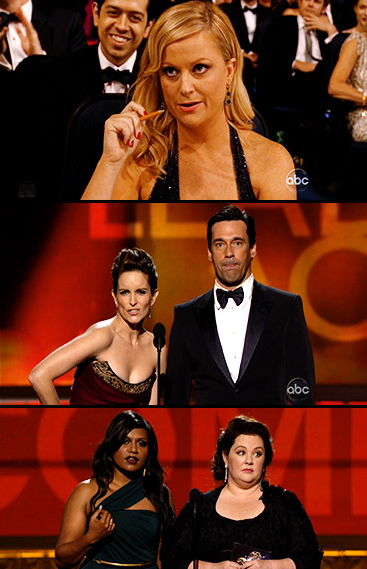 "entertainmentweekly:  Even if none of these fine folks won Emmys last night, they were still responsible for some of the night's best moments. (Also, why didn't each of them win like, six Emmys last night?)  ——————- ""Awards are stupid. But they'd be less stupid if they gave them to the right people."""