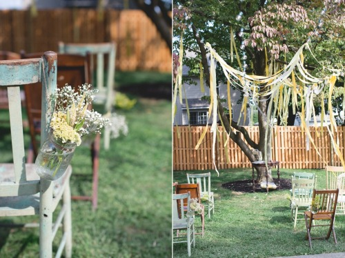 forwheniwed:  Shannon & Pete's Backyard Wedding