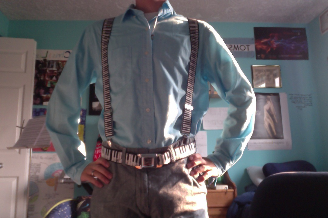 it's not the first day of class without piano suspenders and a matching belt :D