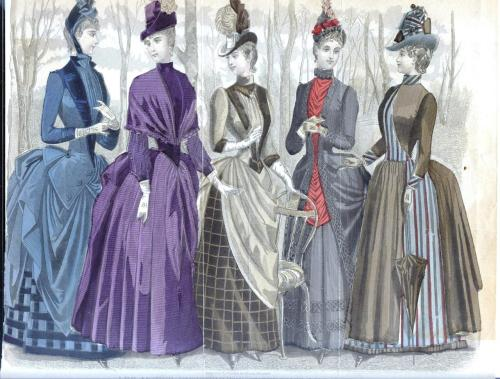 Color Fashion Place, Peterson's Magazine, 1887