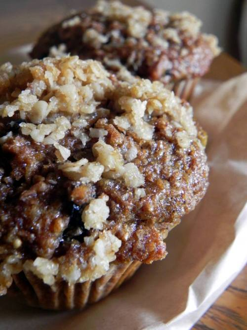 Organic Apple & Fig Bran Muffins from Breads on Oak