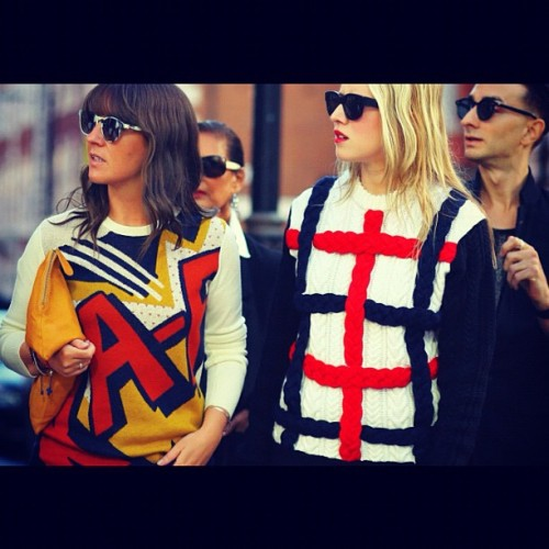 London Fashion Week Spring 2013 3.1PhillipLim #sweater and Prism Eyewear  (Taken with Instagram)