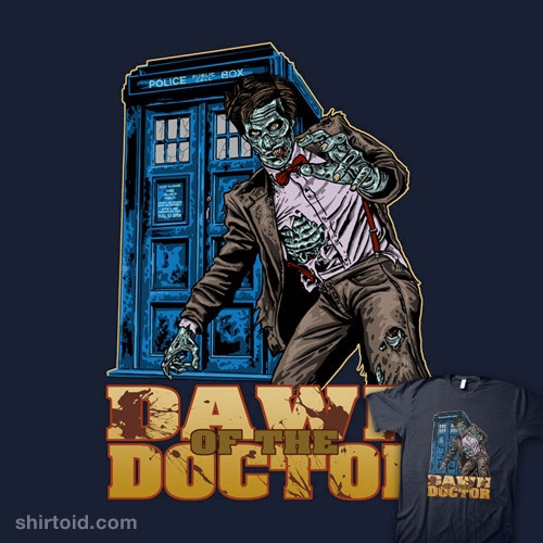 shirtoid:  Dawn of the Doctor available at RedBubble