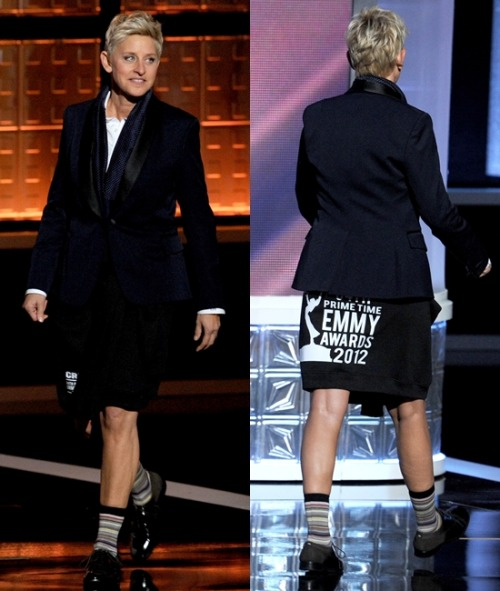 Outstanding reason to hate sweatshirts: Ellen DeGeneres The Best of the Boob Tube: The 64th Annual Primetime Emmy Awards