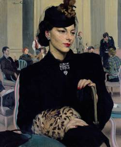 'Pauline Waiting', 1939 by Herbert James Gunn