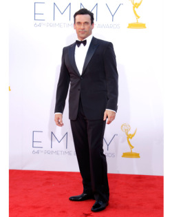 gqfashion:  Jon Hamm looks good. This is not news. The Emmys Style Report  i really hope i could look this good in a tuxedo at any point in my life.