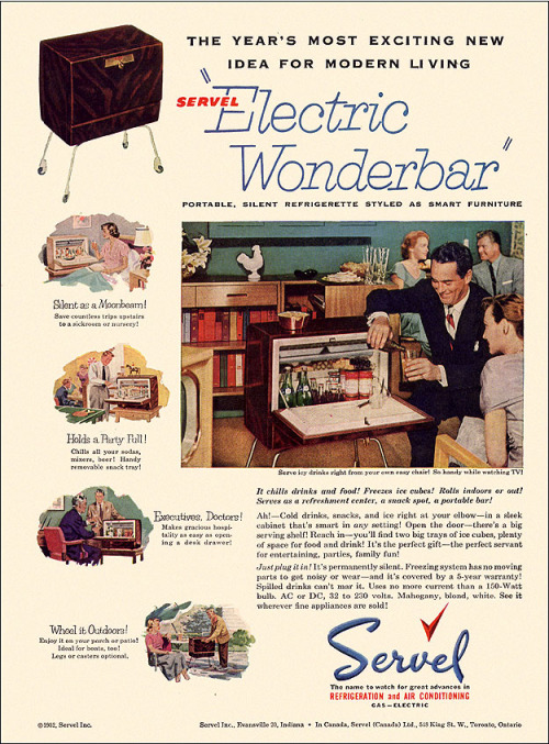 Servel Portable Cooler Ad, 1952
