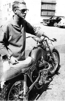 whereisthecoool:  Steve McQueen with his Desert Racer