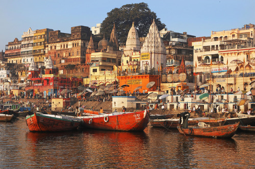(via Varanasi from the Ganges, a photo from Uttar Pradesh, North | TrekEarth) Varanasi, India