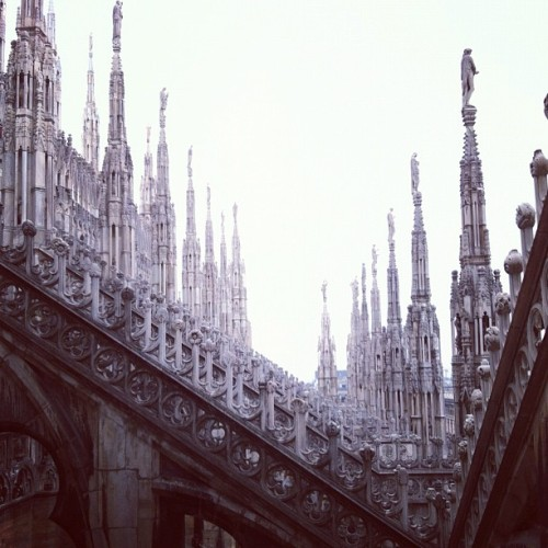 One of my favorite pictures thus far, the Duomo in Milan, Italy… on a misty afternoon. (Taken with Instagram at Duomo di Milano)