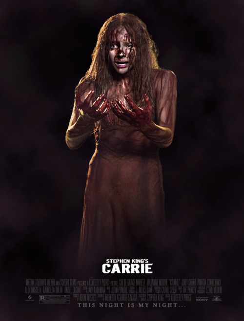 My fan poster for Stephen King's CARRIE, realease 2013. Ramon Bosch Souza (c)