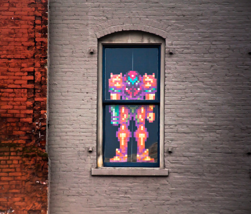 Metroid In The Window by Orbmiser.