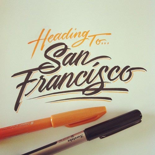 Heading to San Francisco… Some handmade letterings and scribbles by Matthew Tapia, a Hawaii-based graphic artist. via: WE AND THE COLORFacebook // Twitter // Google+ // Pinterest